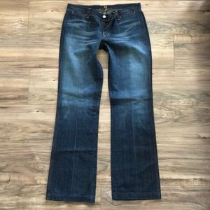 NEW 7 for all mankind dark wash jeans size 30